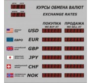 Табло валют Р-6 с ДУ