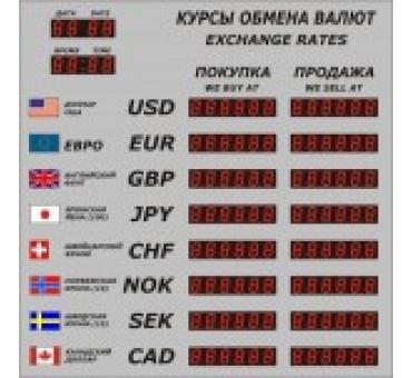 Табло валют Р-8 с ДУ